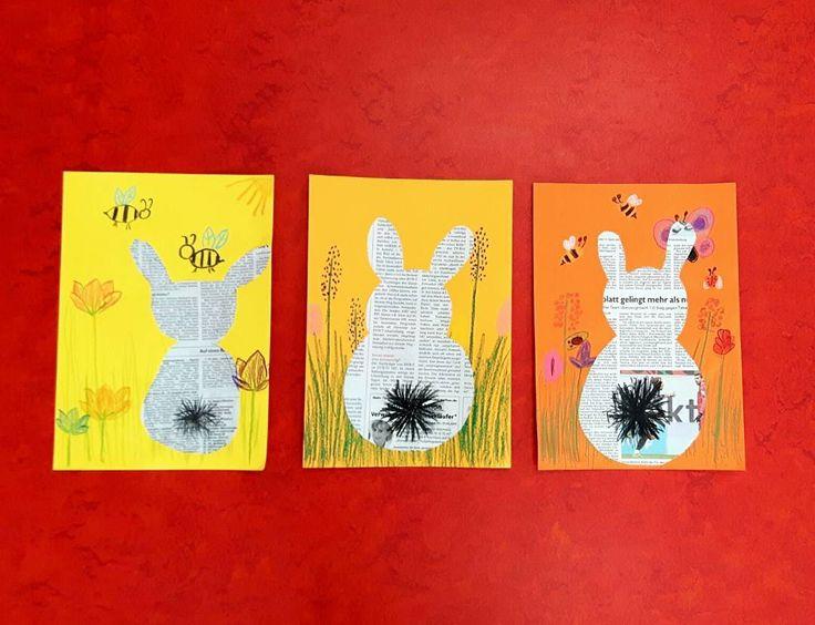 Im Rahmen unseres Zeitungsprojekt haben wir in einer Kunststunde diese süßen Hasen gestaltet. Dabei habe ich mit den Kindern die Form des Hasen erarbeitet, der Hintergrund durfte mit Wachsmalkreiden frei gestaltet werden. Blumenwiesen kamen jedoch vor allem bei den Mädels am besten an #grundschule #grundschulalltag #grundschulideen #grundschulunterricht #grundschullehramt #kunst #kunstunterricht #frühling #ostern #artproject #easterbunny #osterhase #instateacher #lehrerleben #lehrerallt...