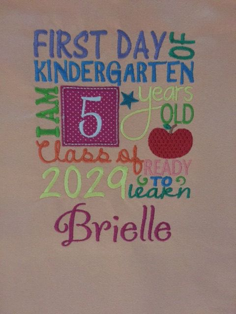Customized Back to School T-Shirts by EmbroiderWithKC on Etsy
