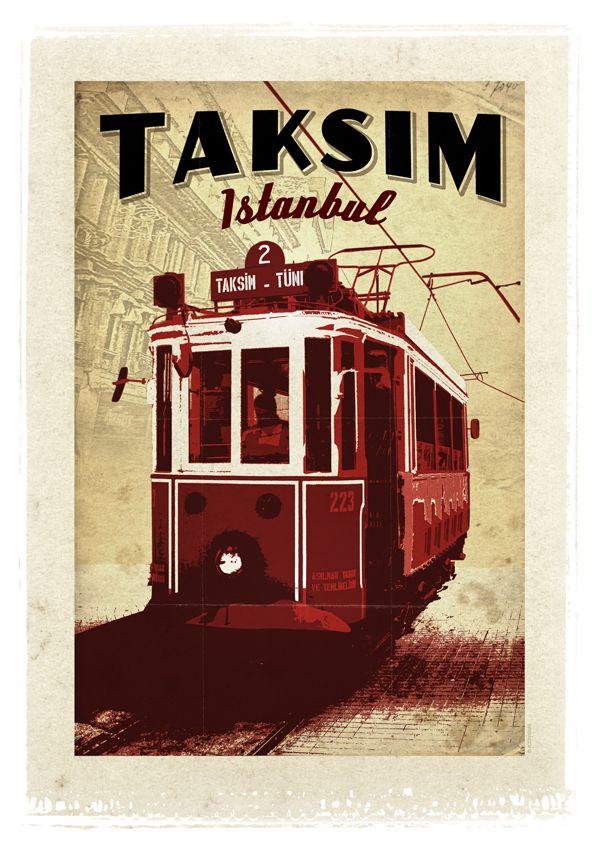 Taksim'de Tramvay - İstanbul'un kalbinin attığı, parke yollarında her gün 3 milyona yakın kişinin yürüdüğü, sanat galerileriyle, kafelerle, barlarla, Çiçek Pasajı'yla, eğlence mekanlarıyla, restoranları, tarihi pastaneleri, çikolatacıları ve simgeleşmiş kırmızı tramvayıyla Taksim Meydanı ve İstiklal Caddesi…