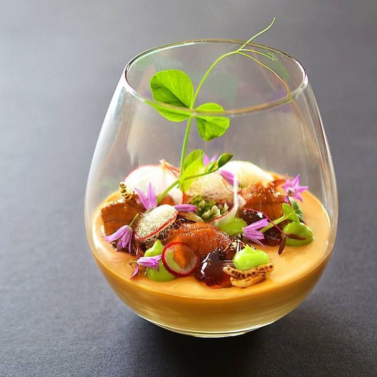 Uni soy milk panna cotta with ponzu gelee sweet pea puffed wild rice ponzu froth and uni by @cookingwithmamamui - #chefsroll #rollwithus by chefsroll