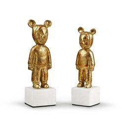 Max & Mimi Pair of Statues, Gold