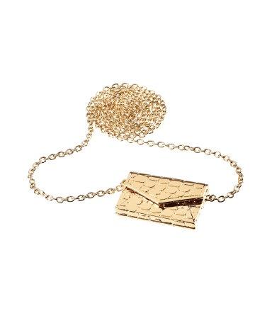 : Metal Necklaces, Clutch Purse, Envelope Necklaces
