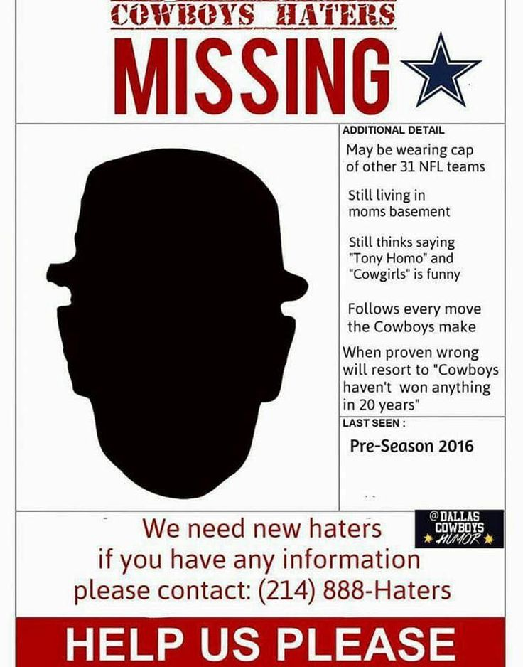 ... 1000+ Images About Dallas Cowboys Needs Loves And Wants On   Missing  Posters Template ...  Lost Person Poster