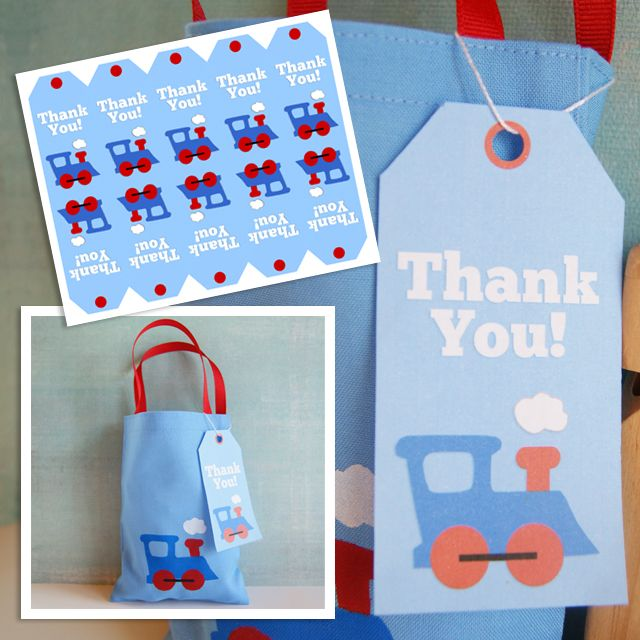 Free Printable: Train Thank You Tag