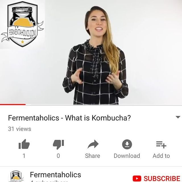 """Have you seen our new video up on YouTube? It's a great short clip for anyone who asks themselves """"What is kombucha?"""" Check it out! https://www.youtube.com/watch?v=li_0YmC_dPQ #fermentaholics #kombucha #scoby #homebrew #probiotics #youtube #guthealth #healthyliving #vegan"""