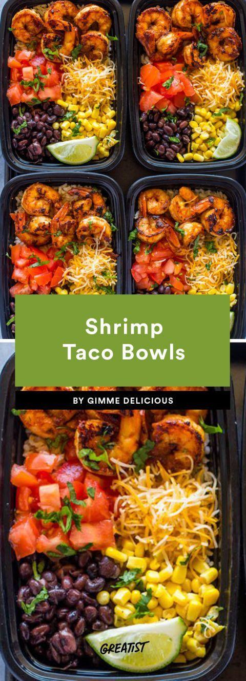 taco bowls: Shrimp Taco