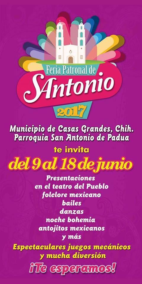 La dirección de comunicación social del gobierno municipal dio a conocer el programa a realizarse en el Teatro del Pueblo en la Feria de San Antonio....