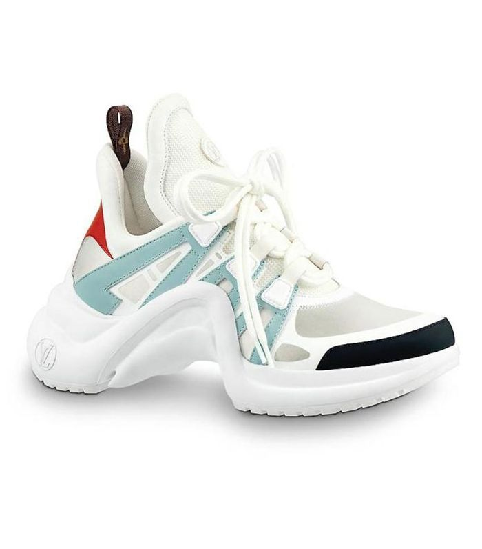 14d176a2c38a White Lv Archlight Blue Red Black Tie Flat Trainer Sneaker Sneakers ...