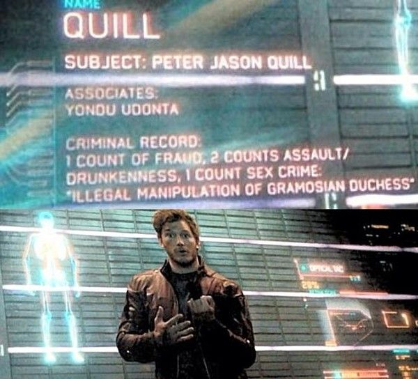 Star-Lord's Criminal Record Revealed In Guardians of the Galaxy Movie; Connects To 4-D Man