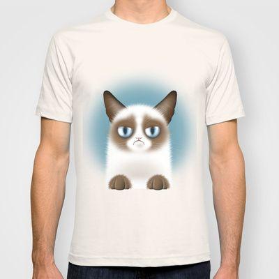 Nope (Grumpy Cat) Mens Fitted Tee $22.00 #fun #cute #grumpycat