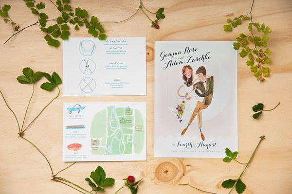 illustration wedding maps - Read more on One Fab Day: http://onefabday.com/wedding-stationery-with-maps/