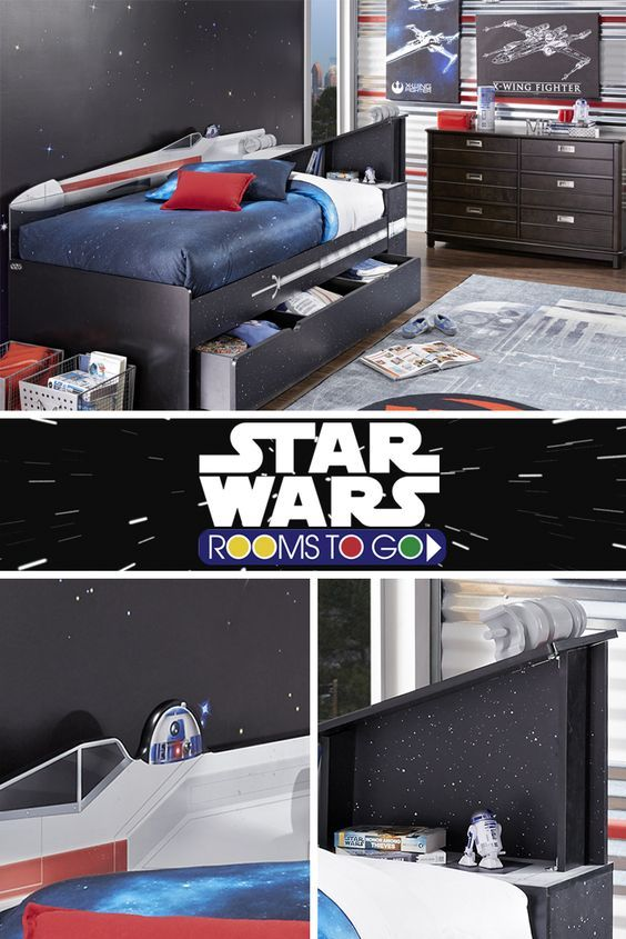 Create your own galaxy! May the force be with you when deciding on which of our Star Wars beds will be the one you bring home. The X-wing™ twin bookcase bed can handle anything the Empire throws at you!: