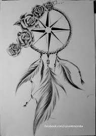 Znalezione obrazy dla zapytania łapacz snów tattoo