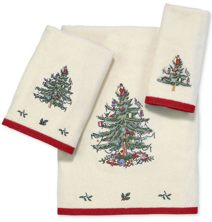 Closeout! Avanti Spode Christmas Tree Fingertip Towel - Red | Spode  christmas tree and Products - Closeout! Avanti Spode Christmas Tree Fingertip Towel - Red Spode