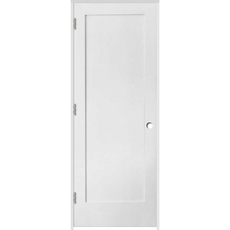 ReliaBilt Primed Solid Core MDF Single Prehung Interior Door (Common: 24-in x 80-in; Actual: 25.5-in x 81.25-in)