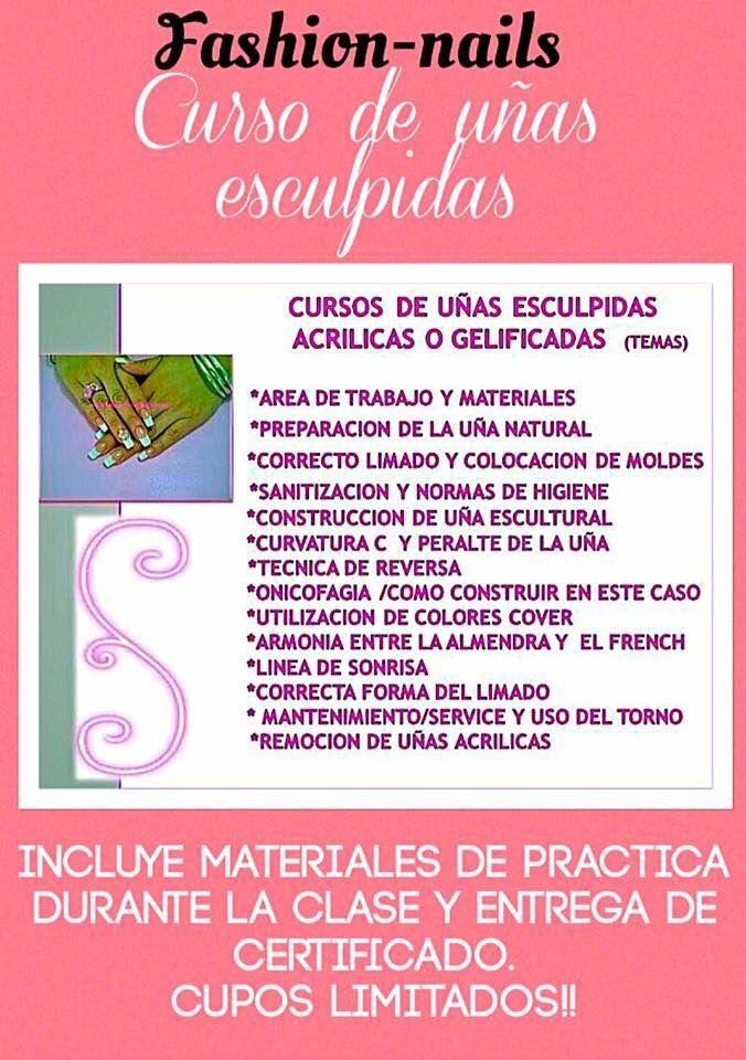 Cursos con rápida salida laboral  www.fashion-nails.com.ar  uñas esculpidas 💅🏻a domicilio,productos importados.visita mi web para turnos y cursos