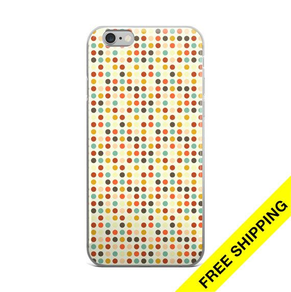 Polka Dot iPhone Case,  Beige iPhone 7 Case, iPhone 5 Case, iPhone SE Case, iPhone 6s Plus Case, iPhone 6 Case      This hybrid case combines a solid polycarbonate back, with flexible, rigid sides.   It fits your phone perfectly, and protects from scratches, dust, oil, and dirt.    •  Made of a hybrid Thermoplastic Polyurethane (TPU) and Polycarbonate (PC) material  •  Solid, durable polycarbonate back   •  Flexible, rigid thermoplastic polyurethane sides  •  Precisely aligned cuts and holes…