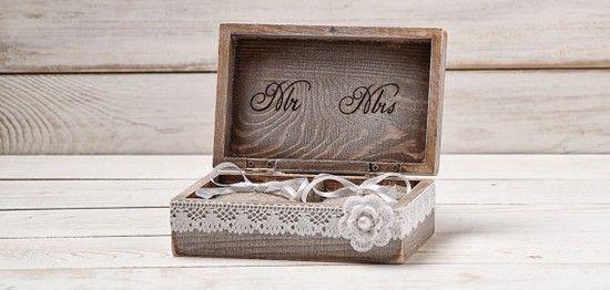 Cuscino portafedi scatola shabby. Wedding rings box. #wedding
