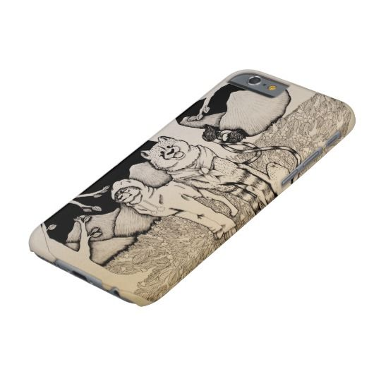 """Sweater Weather"" Cute cheetah couple illustration Barely There iPhone 6 Case"