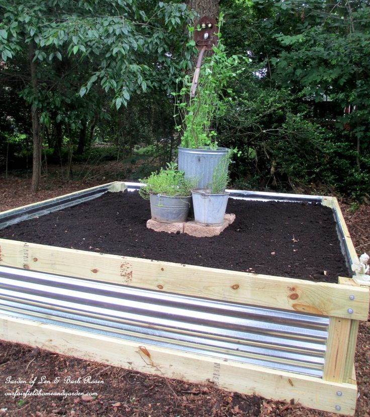 Best 25 diy raised garden beds ideas on pinterest raised garden beds raised beds and for Corrugated metal raised garden beds