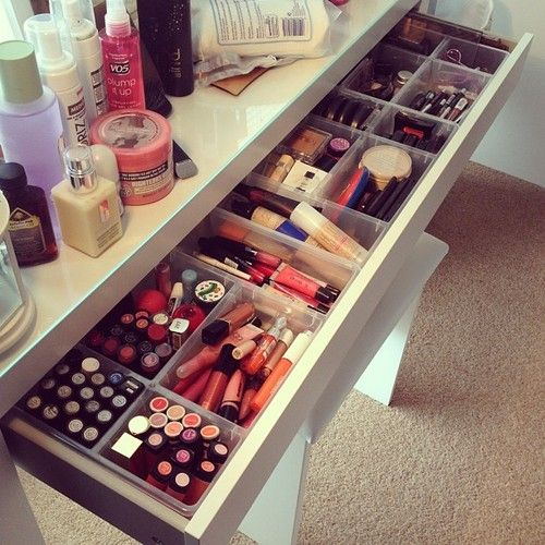 makeup organization. love it!