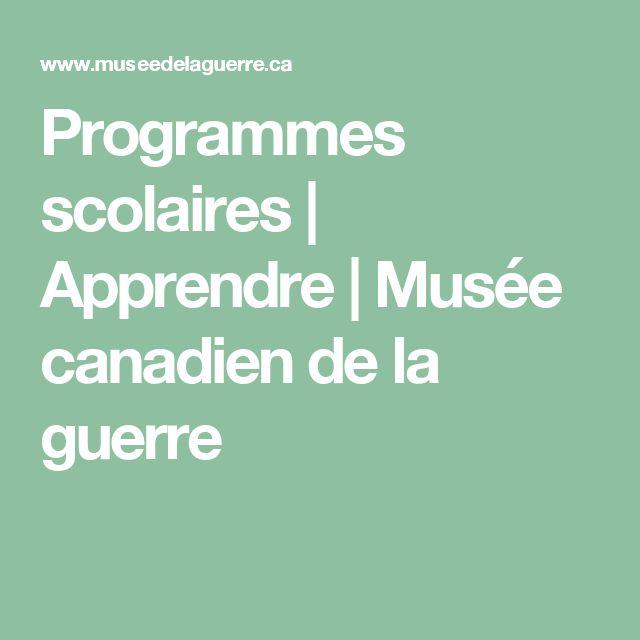 Programmes scolaires | Apprendre | Musée canadien de la guerre