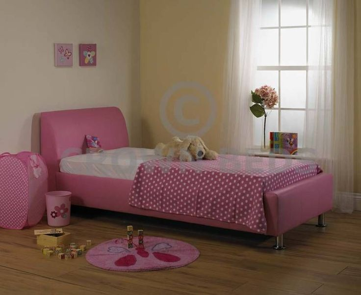 4ft6 Pink Faux Leather Double Bed Ortho Mattress Beds And
