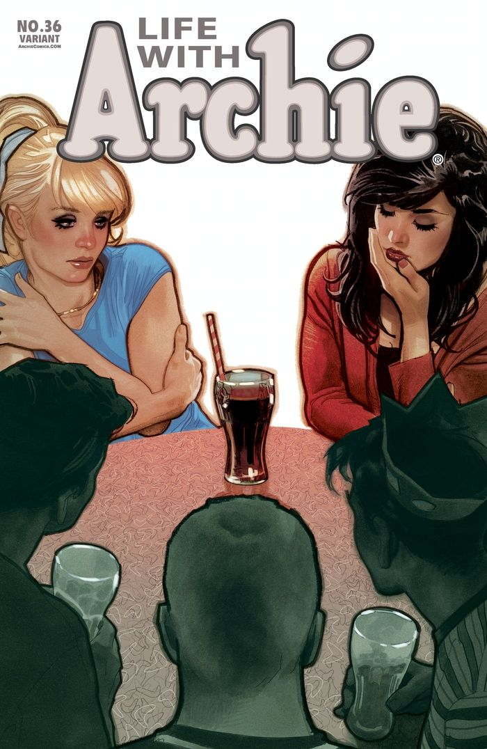 """Adam Hughes' variant cover for Life with Archie #36, the """"Death of Archie"""""""