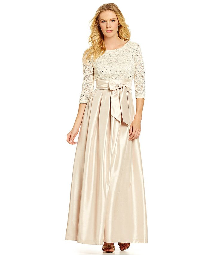 Jessicas Dress Jessica Howard Floral Embellished Lace Bodice Gown