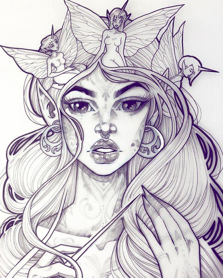 "Close up of ""Spectre"" because I like her face a lot #graphicartery #artshare #artwork #myart #sketch #draw #artsy #arte #art #artnerd #artist #illustration #artistsoninstagram #tattoos #instaart #artcollective2015 #artfido #im_gallery #art_spotlight #art_motive #worldofpencils #worldofartists #spotlightonartists #instartpics #ink #fabercastell #unicorns #fairies #tattoo by graphicartery"
