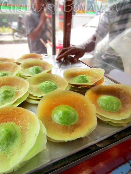 www.villabuddha.com  Bali  Indonesia  Kue ape, thin wheat flour batter pancake with thicker part on the middle, coloquially called kue tetek (breast cake).