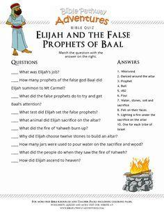 Image Result For Elijah And The Prophets Of Baal Worksheets For Kids