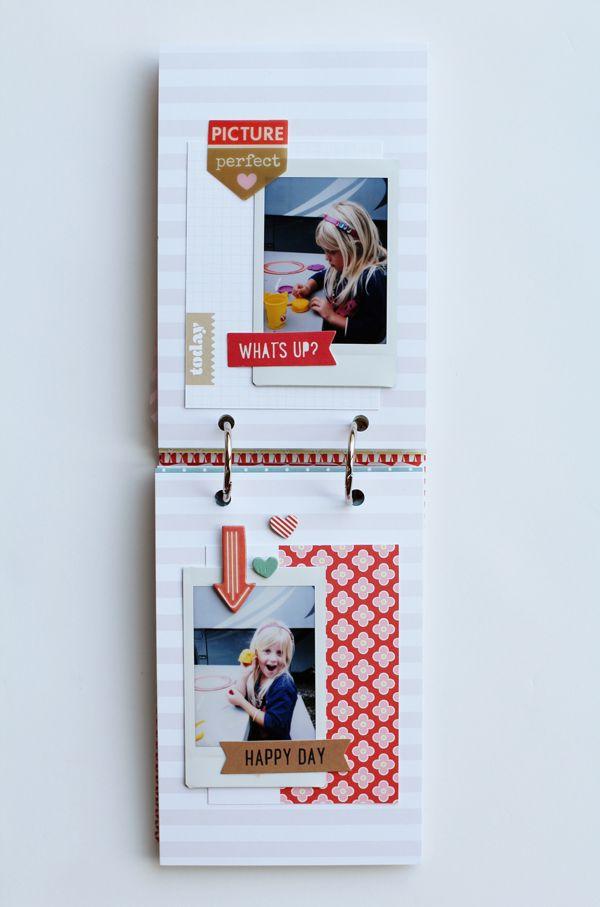 4x6 mini album. Not a full tut but pics of each page are super informative. Paper Fab: Summer 2014 Instax Mini Album *Gossamer Blue*
