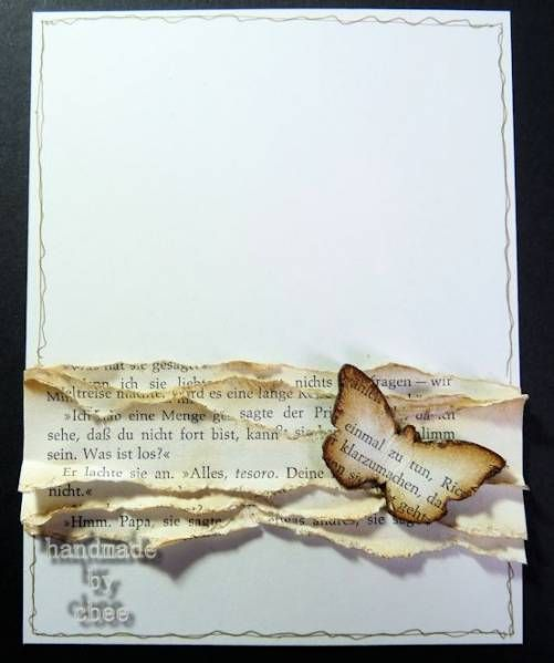 Made with: tando creative chipboards, old bookpages and distress markers
