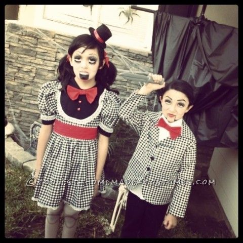I make my kids their costumes every year. This year's theme was something creepy and they decided on dolls and I got to thinking VENTRILOQUISTS!! They...