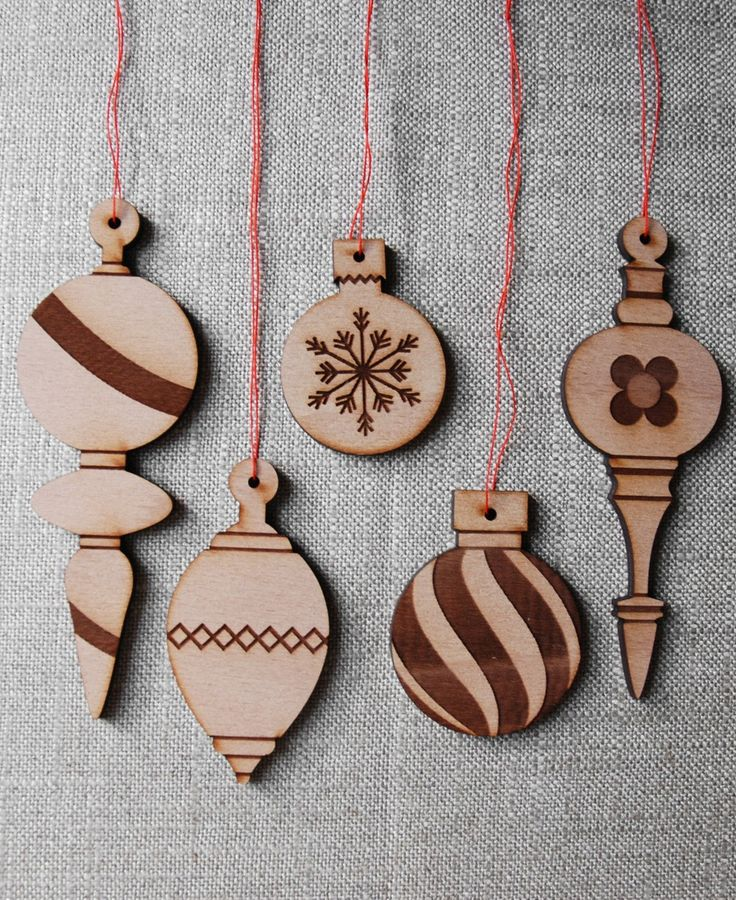 Wood Ornaments Variety Pack by substudio on Etsy