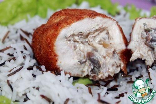 Нежное, сочное куриное мясо в хрустящей корочке, а внутри... жидкий ароматный, нежный, сливочный жюльен!Я покажу, как приготовить ресторанное блюдо за 15 минут!Рис (Басмати микс в варочных пакетиках …