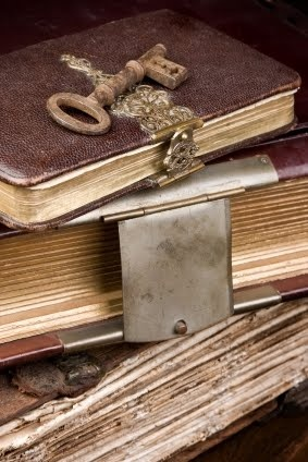 Old diaries with a skeleton key.