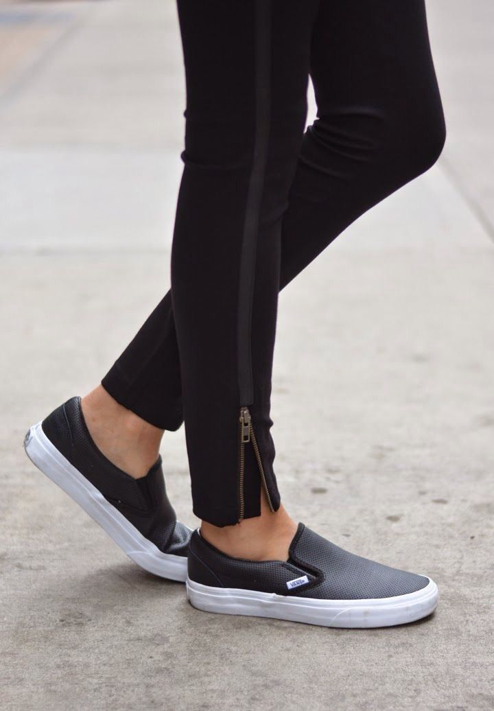 brand new 203a2 b28e3 The Summer Sneaker Trend We re Loving Right Now   Style to love   Leather  slip ons, Sneakers fashion outfits, Fashion