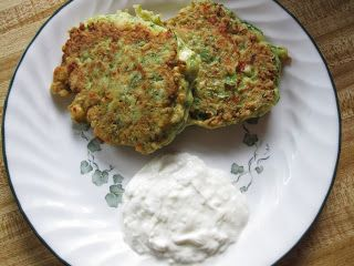 Greek Style Zucchini Fritters With Tzatziki Recipes — Dishmaps