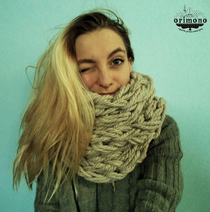 Handknitted infinity scarf! :) Whaddya think? :) more: http://orimono.ga or http://facebook.com/orimono.reczna.praca.awaryjna