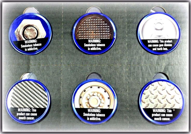 Set of 6 Grizzly Collectible Can Lids Metal Toppers Keeps Chewing Tobacco Fresh  #Grizzly