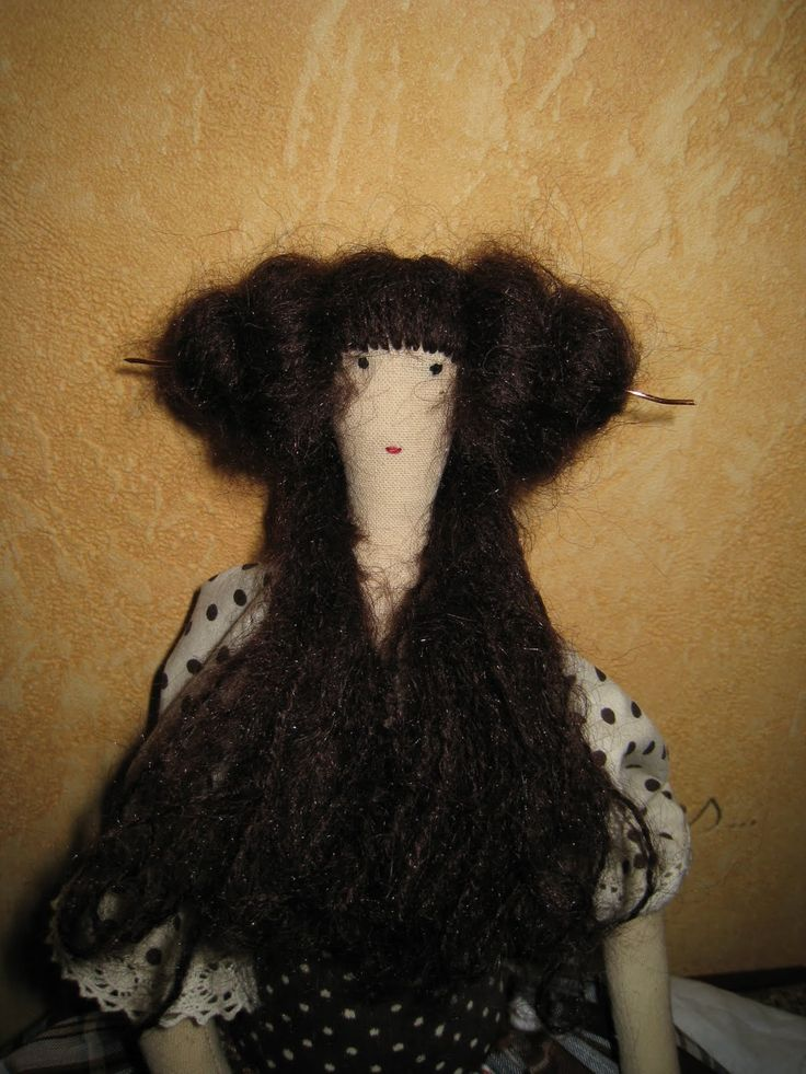 NKALE :-) В каждой игрушке сердце: Новый Мастер-класс: волосы куклы-тильды