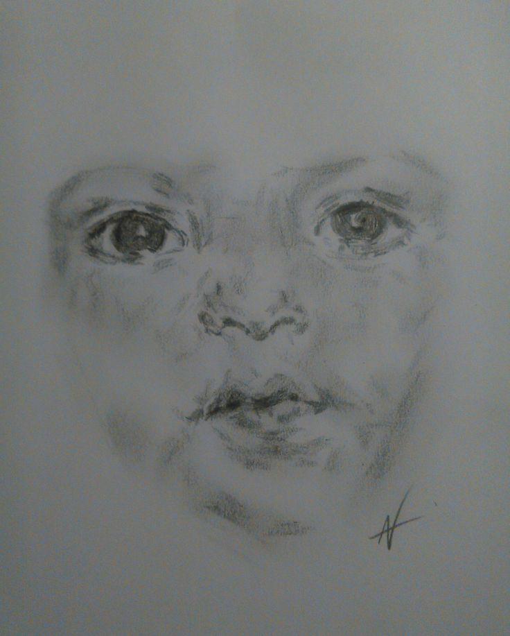 child pencil work