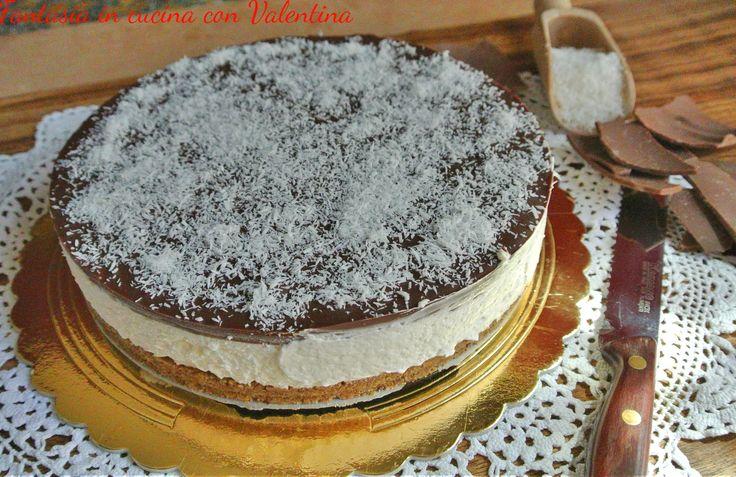 Cheesecake+Cocco+e+Cioccolato