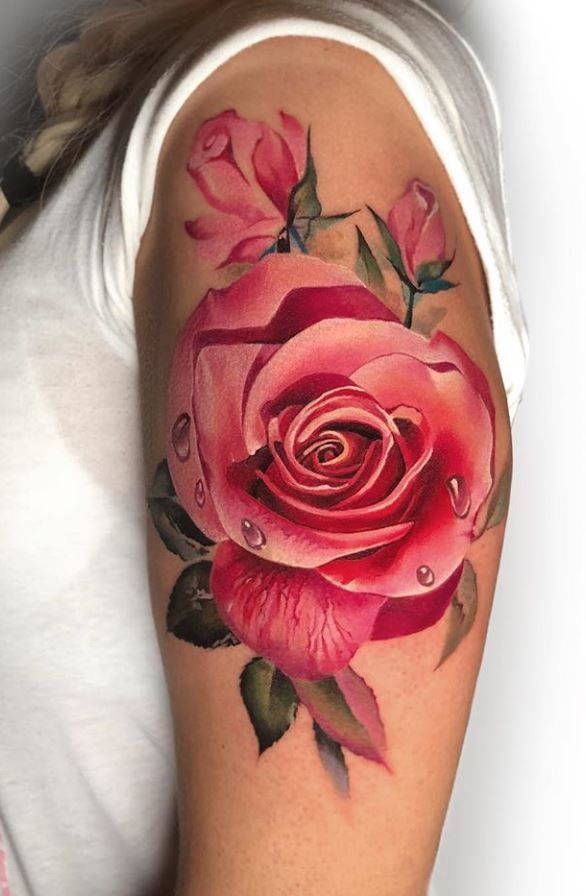 50 Best Pastel Color Flower Tattoos For Girls Shake That Bacon Rose Tattoo Design Realistic Rose Tattoo Rose Tattoos