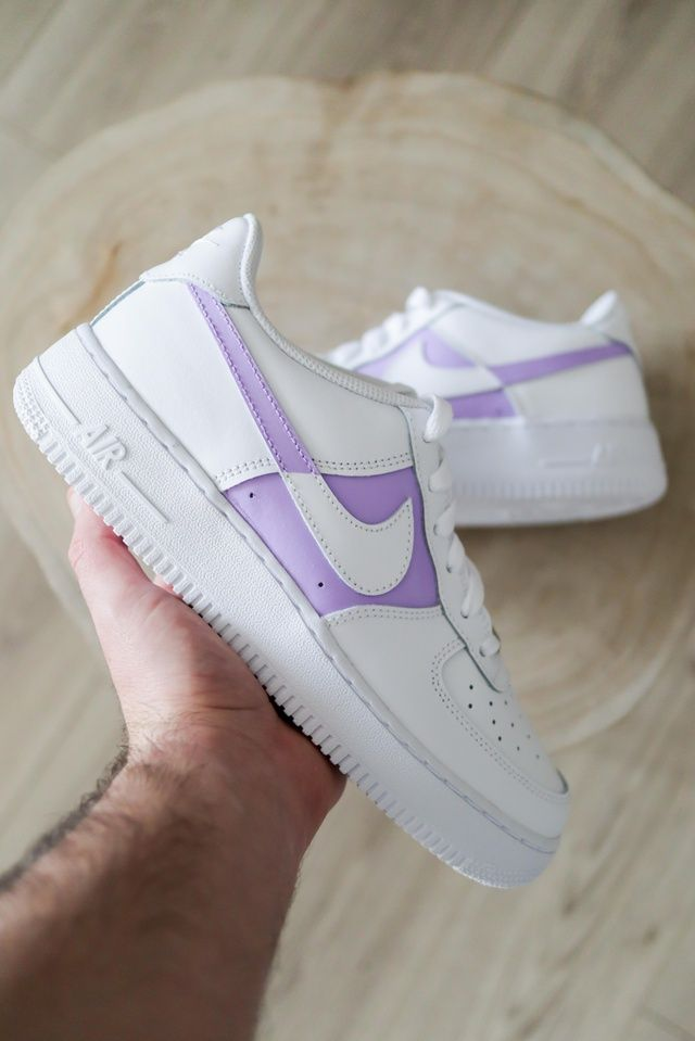 Nike Air Force 1 Dual Lilac The Custom Movement In 2020 Nike Shoes Air Force Nike Air Shoes Air Force One Shoes