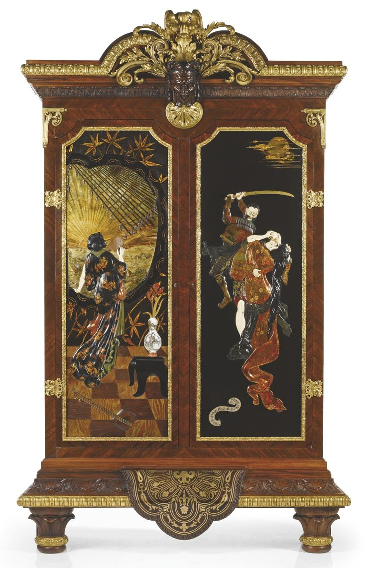 Alphonse And Heber Lippmann GRAND ARMOIRE, CIRCA 1880 Executed In Paris  Rosewood, Gilt