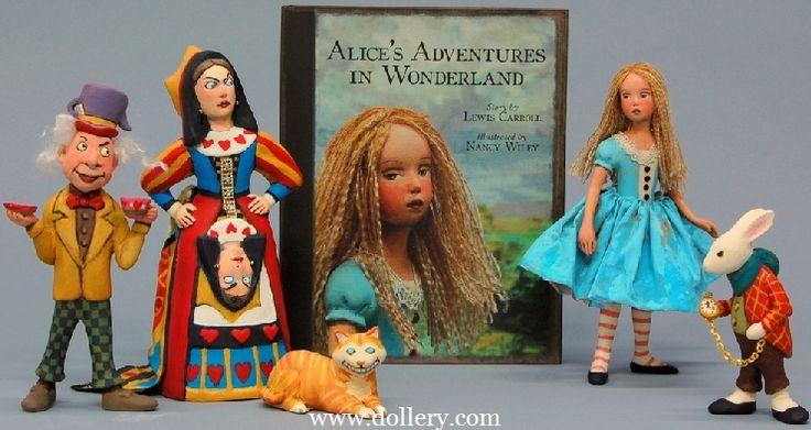 Alice in Wonderland Original Artist Dolls At the Dollery...........   Nancy Wiley's new Alice in Wonderland Collection