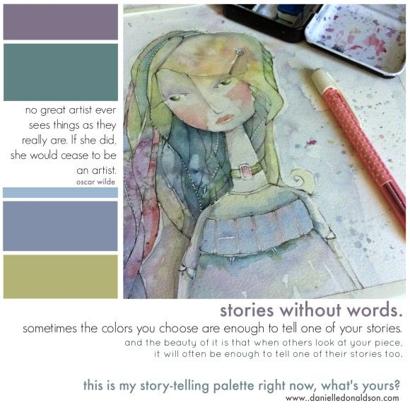 stories without words. color inspiration. danielle donaldson | mixed-media art and illustration